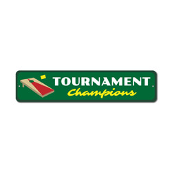Tournament Champions Sign, Corn Hole Winners Gift, Bag Toss Party Game Room Man Cave Decor