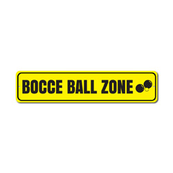 Bocce Ball Zone Sign, Pallino Jack & Ball Yard Game Winner Gift, Metal Man Cave Game Room Dorm Decor