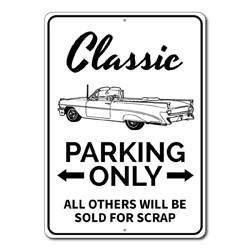 Classic Car Parking Only Metal Sign, All Others Will Be Sold For Scrap Gift, Garage Decor
