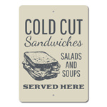 Sandwich Sign, Cold Cuts Sign, Sandwich Shop Decor, Sandwich Shop Sign, Sandwich Decor, Sandwich Lover Gift