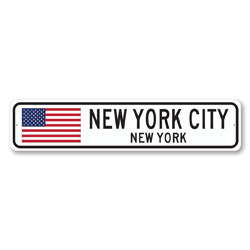 Flag Sign, Personalized City State Sign, Custom Home Decor, United States Location Sign, Destination Sign