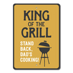 King of the Grill Sign, Grill Decor, Grill Gift, Grill Master Gift, Grilling Sign, Dad Grill Sign for Father's Day