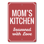 Moms Kitchen Sign, Mother's Day Gift for Mom Sign, Mom Cook Sign, Custom Kitchen Decor, Mom Christmas Gift