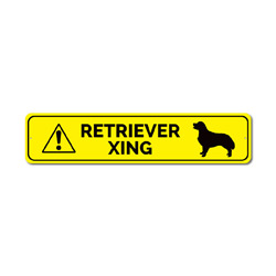 Dog Crossing Sign, Retriever Xing Sign, Caution Dog Sign, Retriever Gift, Retriever Owner Sign, Dog Xing Sign