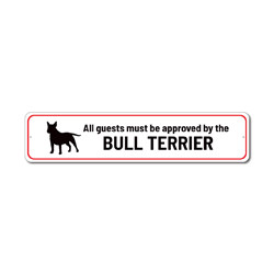 Dog Humor Gift, Bull Terrier Sign, Guard Dog Sign, Home Decor for Dogs Gift, Bull Terrier Gift, Dog Lover Sign