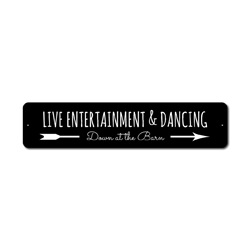Live Entertainment Sign, Dancing Sign, Dancer Gift, Live Music