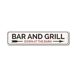 Bar And Grill Sign, Grill Master Gift, Bar Owner Sign, Barn Bar