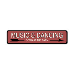 Music & Dancing Sign, Music Lover Gift, Dancing Decor, Barn Party