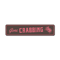Gone Crabbing Sign, Crab Decor, Crab Sign, Crab Lover Gift