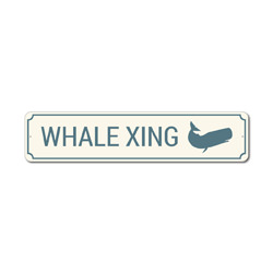 Whale Xing Sign, Whale Crossing Sign, Whale Decor