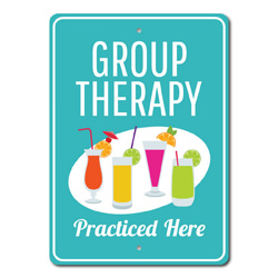 Group Therapy Sign, Funny Therapy Gift, Social Drinker Gift, Group Therapy Gift, Drink Lover Gift, Therapy Decor