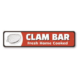 Clam Bar Fresh Home Cooked Kitchen Sign, Fresh Seafood Sign, Home Cooked Sign, Cook Gift