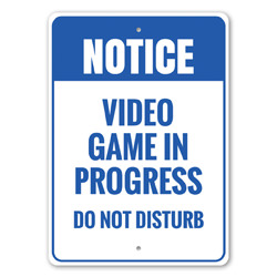 Notice: Video Game In Progress Man Cave Sign, Game Room Sign, Gamer Gift Idea, Gamer Room Decor
