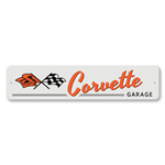 Corvette Garage Chevy Novelty Sign, Garage Decorative Sign, Man Cave Wall Sign, Chevy Street Sign