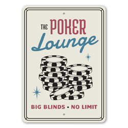 The Poker Lounge Gameroom Sign, Family Gameroom Wall Sign, Las Vegas, Casino Playing Cards