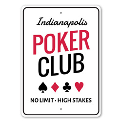 Poker Club Playing Cards, Gameroom Sign, Las Vegas, Man Cave Sign, Casino Sign