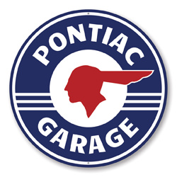 Pontiac Garage Car Sign