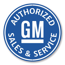 Authorized GM Sales and Service Car Sign