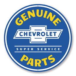 Chevy Genuine Parts Car Sign