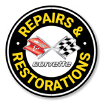 Corvette Repairs and Restoration Car Sign