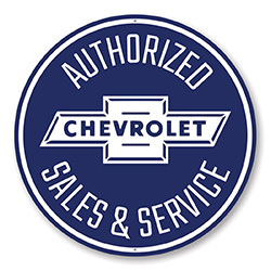 Authorized Chevy Sales and Service Car Sign