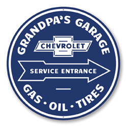 Grandpa's Garage Service Entrance Car Sign