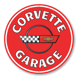 Corvette Garage Car Sign