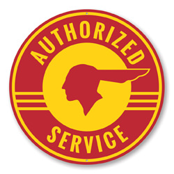 Authorized Service Pontiac Car Sign