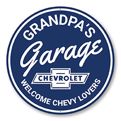 Grandpa's Garage Chevy Lovers Car Sign