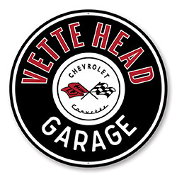 Vette Head Garage Car Sign