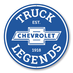 Chevy Truck Legends Car Sign