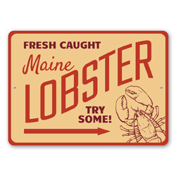 Fresh Caught Maine Lobster Seafood Shack, Beach Restaurant Sign, Lobster Restaurant Sign