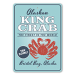 Alaskan King Crab Seafood Restaurant Sign, Beach Store Sign, King Crab Sign
