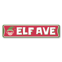 Elf Avenue Holiday Sign