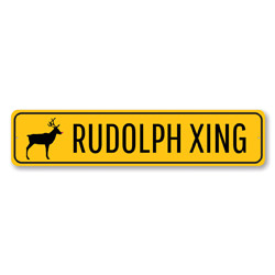 Rudolph Xing Yuletide Sign