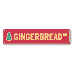 Gingerbread Drive Holiday Sign
