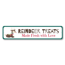 Reindeer Treats Holiday Sign