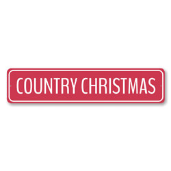 Red Country Christmas Sign