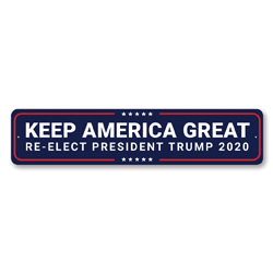 Re-Elect Trump 2020 Sign
