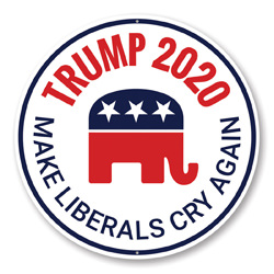 Trump 2020 Elephant Sign