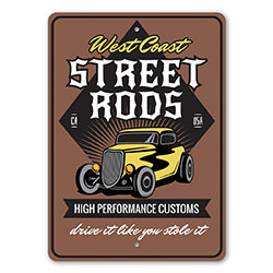 Street Rods High Performance Customs Shop Sign