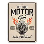 Hot Rod Motor Club Garage Sign
