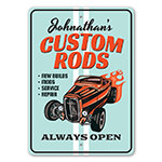 Always Open - Custom Rods Shop Sign
