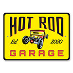 Hot Rod Garage Established Year Sign