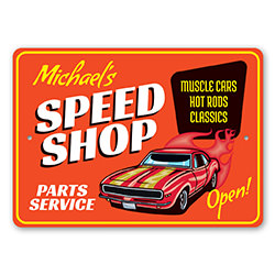 Parts and Service Speed Shop Sign
