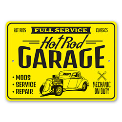 Full Service Hot Rods Classic Garage Mechanic Sign