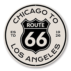 Route 66 Chicago to Los Angeles Novelty Sign
