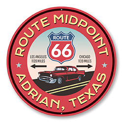 Route 66 Midpoint Novelty Sign
