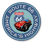 America's Highway Historic Route 66 Sign