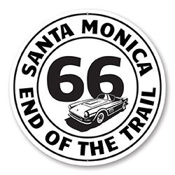 Route 66 End of the Trail Santa Monica Sign